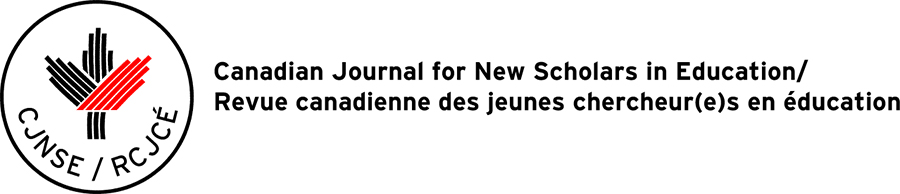 Canadian Journal for New Scholars in Education